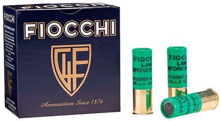 "Fiocchi 12LEBAT Rubber Baton Slug 12 ga 2.75"" 4.8 Grams Slug Shot 25Box/10Case"