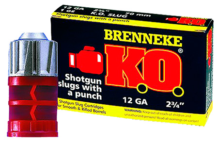 "Brenneke SL122KO Gold Magnum Sabot Slugs 12 ga 2.75"" 1 oz Slug Shot 5Box/50Case"