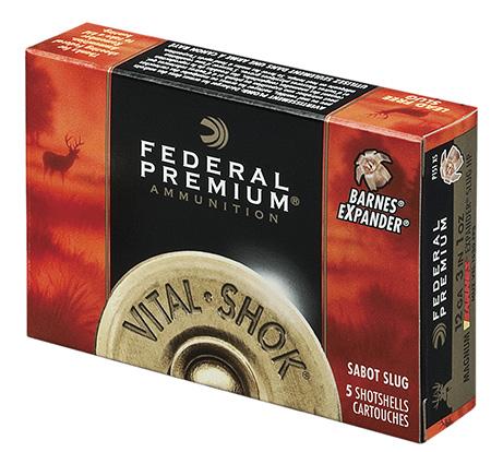 """Federal P152TC Premium Vital-Shok 12 ga 2.75"""" 3/4oz Sabot Slug Shot 5Bx/50Cs"""