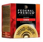 "Fed P1582 Premium WingShok Magnum Lead 12 ga 3"" 1-7/8oz 2 Shot 25Bx/10Cs"