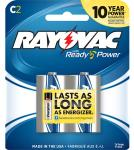 Rayovac 8142D 814-2D Alkaline C Batteries Card 2 pack