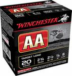 "Winchester AA208 AA Target Loads 20 ga 2.75"" .88 oz 8 Shot 25Box/10Case"