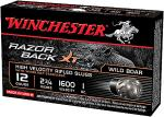"Win S12RBSS Razorback LF Slug 5Bx/20Cs 12ga 2.75"" Nick Plated Lead"
