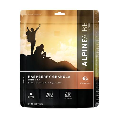 Raspberry Granola with Milk Serves 2