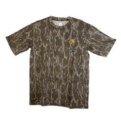 Wasatch-CB Short Sleeve Shirt Mossy Oak Original Bottomlands, 2X-Large