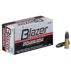 .22 Long Rifle (LR) HS Blazer Ammunition, 40 Grains Lead Round Nose (LRN), Per 50