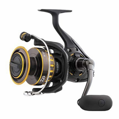 "BG Saltwater Spinning Reel 2500, 5.6:1 Gear Ratio, 6+1 Bearings, 33.20"" Retrieve Rate, 13.20 lb Max Drag"