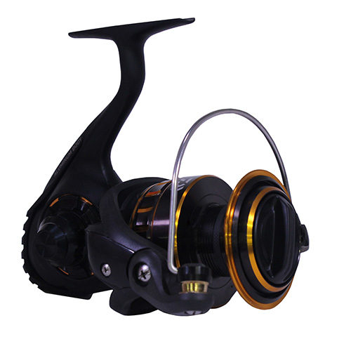"BG Saltwater Spinning Reel 4500, 5.7:1 Gear Ratio, 6+1 Bearings, 43.10"" Retrieve Rate, 22 lb Max Drag"