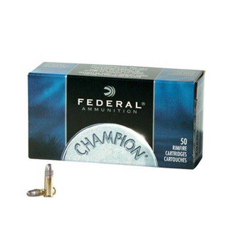 22 Long Rifle Champion, High Velocity, 40 Grains, Lead Round Nose, Per 50