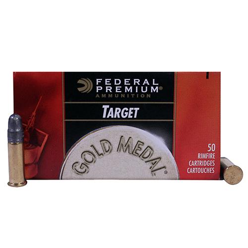 22 Long Rifle Premium Gold Medal Target, 40 Grains, Lead Round Nose, Per 50