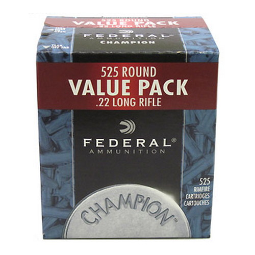22 Long Rifle Champion Target, 36 Grains, Plated Lead Hollow Point, Per 525