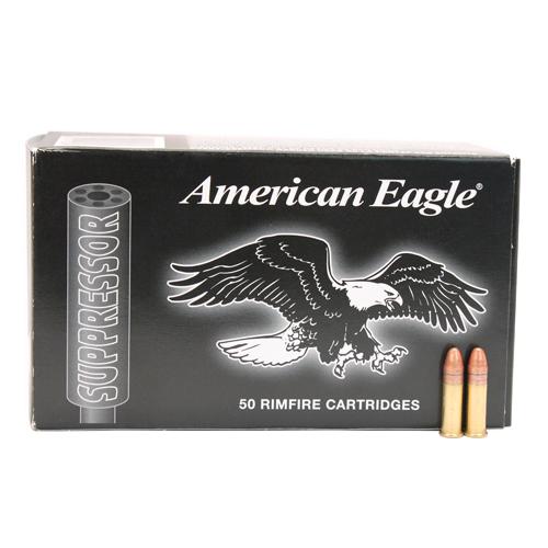 22 Long Rifle American Eagle Suppressor, 45 Grains, Copper Plated Lead Round Nose, Per 50