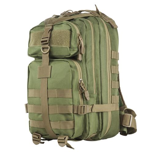 Small Backpack Green w/Tan Trim