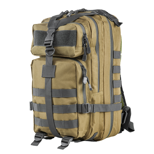 Small Backpack Tan w/Urban Gray Trim