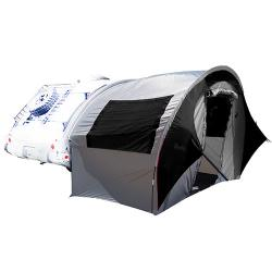 TAB Trailer Side Tent for NuCamp, Little Guy, Dutchman Regular TAB Trailers Silver/Black