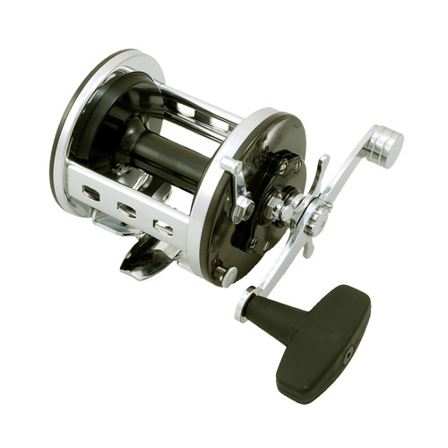 "JigMaster Star Drag Conventional Reel, 4.0:1 Gear Ratio, 25"" Retrieve Rate, RH"