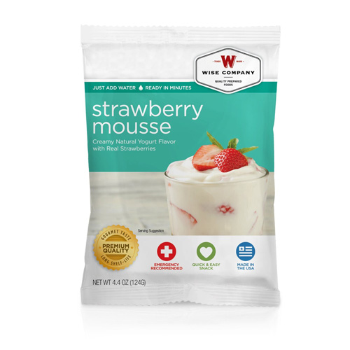 Dessert Dish Strawberry Mousse, 4 Servings