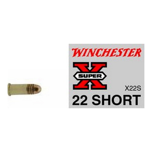 22 Short Super-X Rimfire, 29 Grains, Lead Round Nose, Per 50