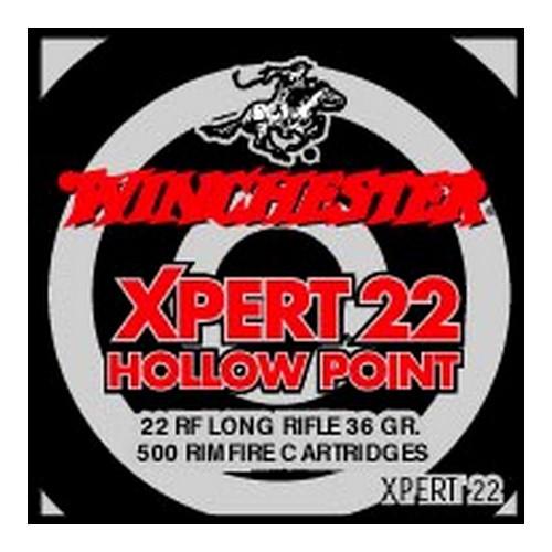22 Long Rifle Xpert Rimfire, 36 Grains, Lead Hollow Point, Per 500