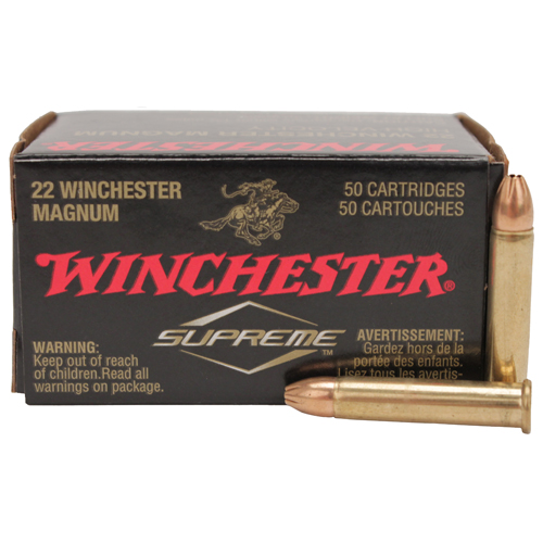 22 Winchester Magnum Rimfire Supreme, 30 Grains, Jacketed Hollow Point, Per 50