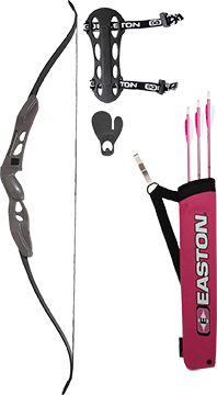 Youth Recurve Bow Kit w/Pink Arrows & Quiver
