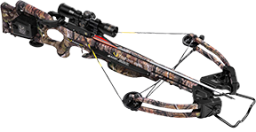 15 Turbo XLT II Crossbow Pkg w/3x Proview Scope w/Rope Cock