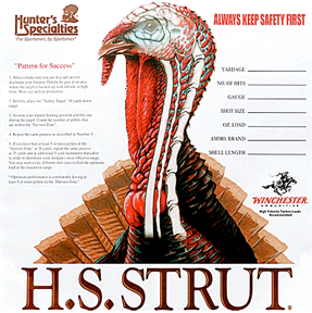 "HS Turkey Targets 11""x 11"""