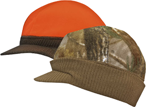 Knit Visor Reversible Cap Advantage Brown/Blaze