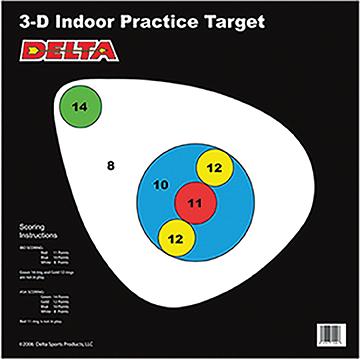 Delta ASA Dair Target Right Facing 25 pk.
