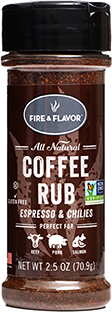 Fire and Flavor Seasonings Coffe Rub