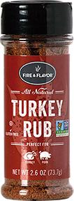 Fire and Flavor Seasonings Turkey Rub