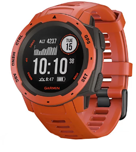 * Garmin Instinct GPS Watch Flame Red