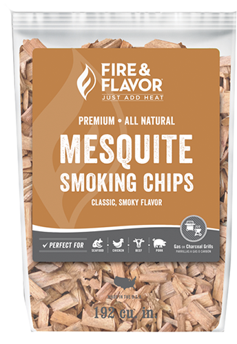Fire and Flavor Wood Chips Mesquite 2 lbs.