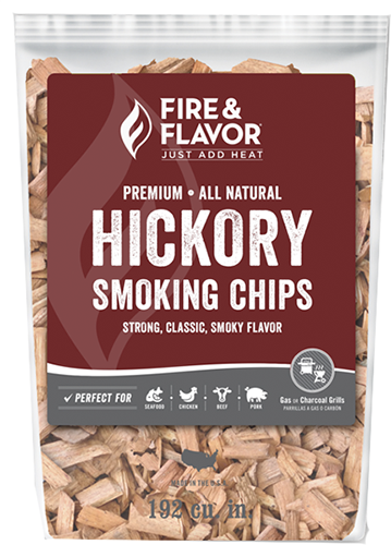 Fire and Flavor Wood Chips Hickory 2 lbs.