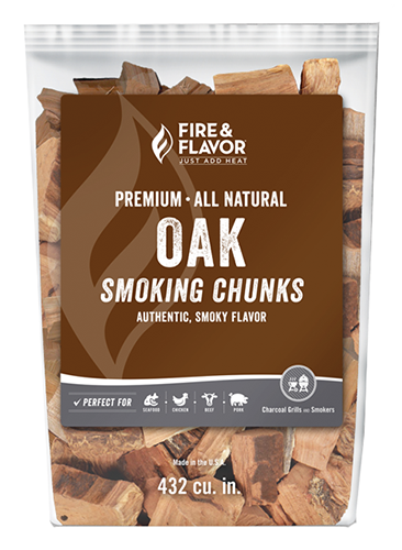 Fire and Flavor Wood Chunks Oak 4 lbs.