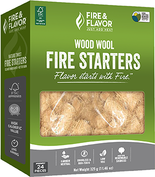 Fire and Flavor Wood Wool Fire Starter 24 pk.