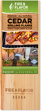 Fire and Flavor Cedar Grilling Plank 15 in.