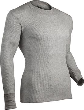 Indera Cotton HW Thermal Shirt L/S Heather Gray Medium