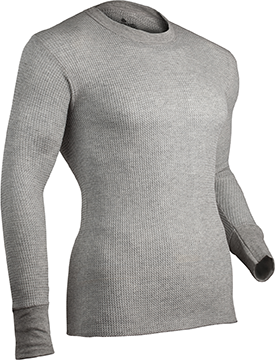 Indera Cotton HW Thermal Shirt L/S Heather Gray 2X-Large