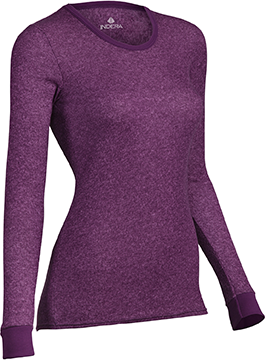Indera Womens Performance Rib Knit Thermal Top Print Small