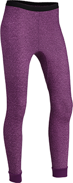 Indera Womens Performance Rib Knit Thermal Bottom Print Small