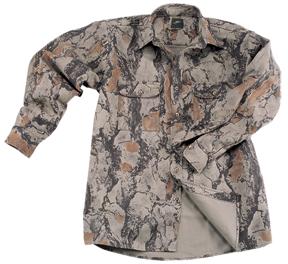 Bush Shirt Natural Camo Medium