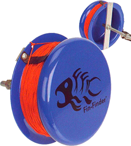 Fin-Finder Heavy Duty Drum Reel Blue