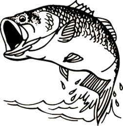 Large Mouth Bass Decal 6x6