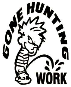Gone Hunting Decal 6x6