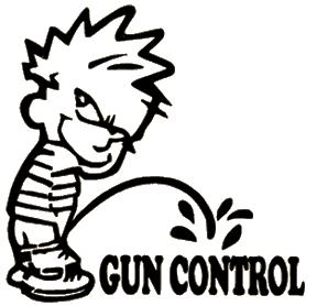Gun Control Decal 6x6