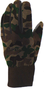 Camo Fleece Glove Woodland Camo Medium