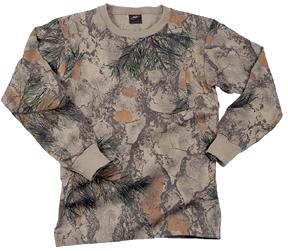 Long Sleeve Tshirt Natural Camo 2X