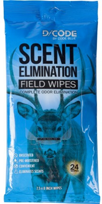 D/Code Field Wipes Unscented Odor Elimination