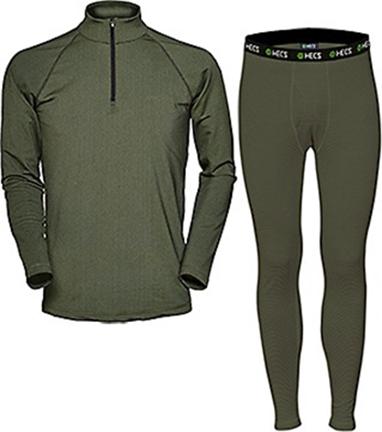 Hecs Base Layer Pants & Shirt Green Small